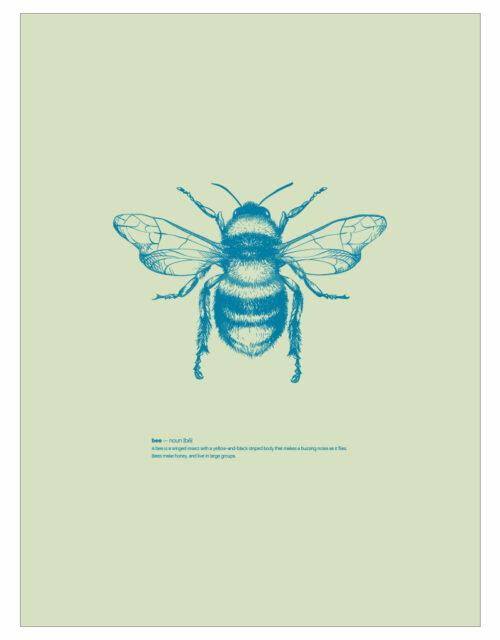 timhenning-bee-I-30x40cm-lightgreen