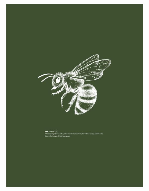 timhenning-bee-II-30x40cm-darkgreen