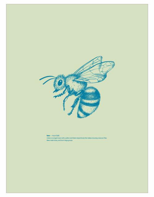 timhenning-bee-II-30x40cm-lightgreen