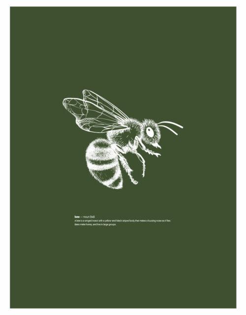 timhenning-bee-III-30x40cm-darkgreen