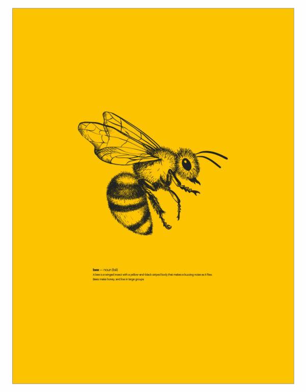 timhenning-bee-III-30x40cm-yellow